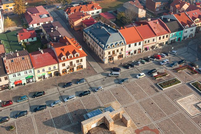Olkusz, Rynek Miejski. EU, Pl, Malopolska. Lotnicze.