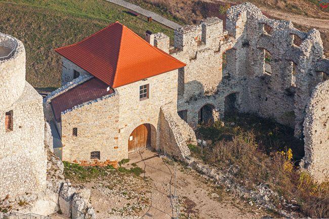 Zamek Rabsztyn. EU, Pl, Malopolska. Lotnicze.