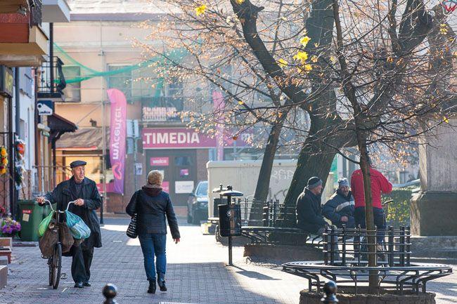 Wolbrom, rynek miejski. EU, PL, Malopolska.