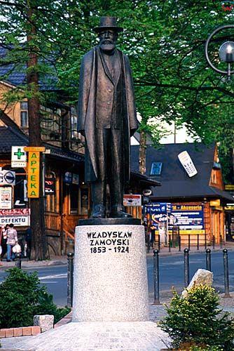 Zakopane, Pomnik Władysława Zamoyskiego na Krupówkach