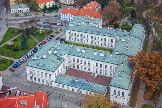 Plock, siedziba Sadu Okregowego i Rejonowego. EU, Pl, Mazowieckie. LOTNICZE.