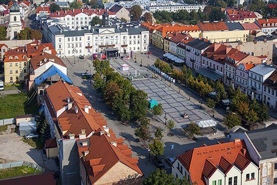 Plock, Rynek Starego Miasta. EU, PL, Mazowieckie. Lotnicze.