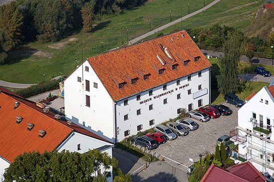 Plock, Budynek Muzeum Mazowieckiego. EU, PL, Mazowieckie. Lotnicze.
