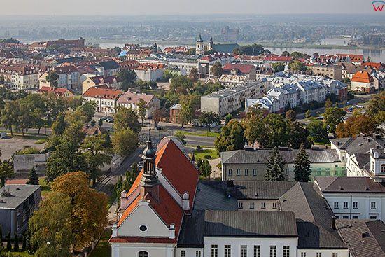 Plock, Stare Miasto. EU, PL, Mazowieckie. Lotnicze.