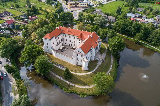 Szydlowiec, 22.05.2018 r. Zamek, obecnie Muzeum Ludowych Instrumentow. EU, PL, Mazowieckie. Lotnicze.