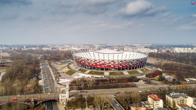 Warszawa, Stadion Narodowy PGE. EU, PL, mazowieckie. Lotnicze.
