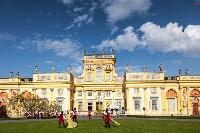 Wilanow, VII Festiwal Choragwi - Dzien Flagi RP. EU, PL. Mazowieckie.