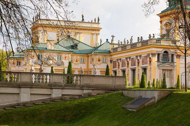 Wilanow, wschodnia fasada palacu. EU, PL. Mazowieckie.