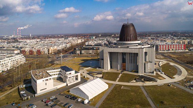 Warszawa Wilanow, Muzeum Jana Pawla II. EU, PL, mazowieckie. Lotnicze.