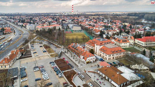 Warszawa Wilanow, okolica ulicy St. Kostki. EU, PL, mazowieckie. Lotnicze.