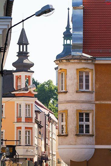 Opole, detale architektoniczne na ulicy Zamkowej. EU, PL, Opolskie.