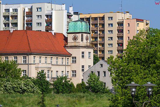 Opole, panorama na ulice Bonczyka i szkole podstawowa nr 8. EU, PL, Opolskie.