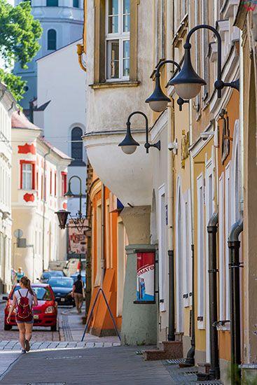 Opole, ulica Katedralna. EU, PL, Opolskie.