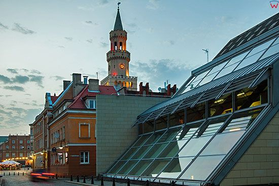 Opole, panorama na Rynek z ulicy Krakowskiej. EU, PL, Opolskie.
