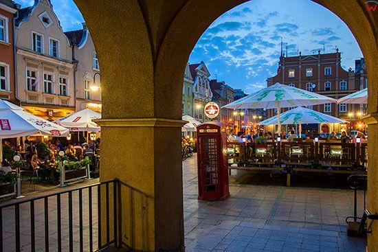 Opole, kamienice na Rynku. EU, PL, Opolskie.