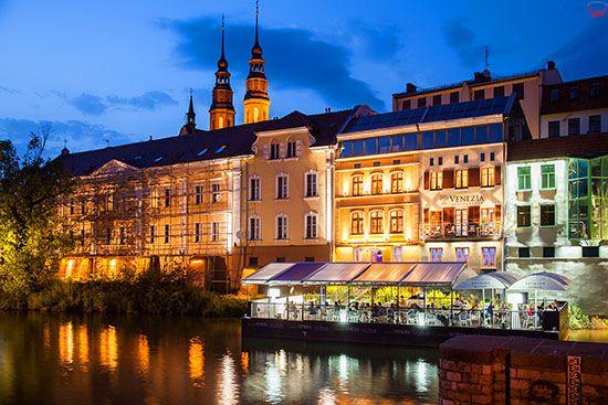 Opole, Opolska Wenecja - kamienice nad Mlynowka. EU, PL, Opolskie.