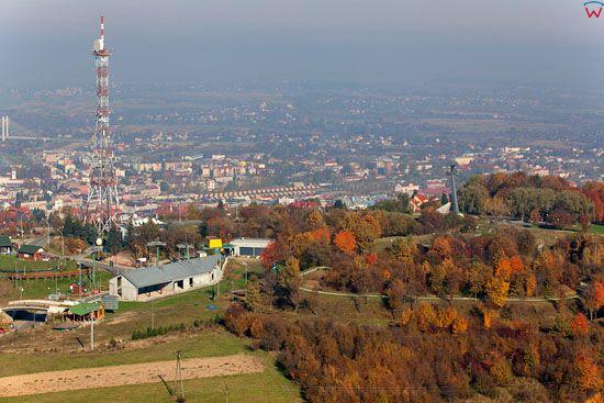 Przemysl, panorama na miasto od strony S. EU, Pl, podkarpackie. Lotnicze.