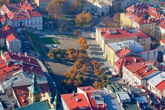 Przemysl, rynek starego miasta. EU, Pl, podkarpackie. Lotnicze.
