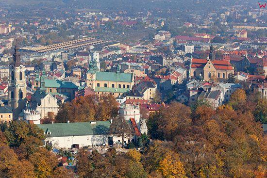 Przemysl, panorama na stare miasto. EU, Pl, podkarpackie. Lotnicze.