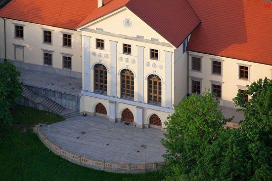 Tarnobrzeg- Palac Tarnowskich. EU, Pl, Podkarpackie. LOTNICZE.