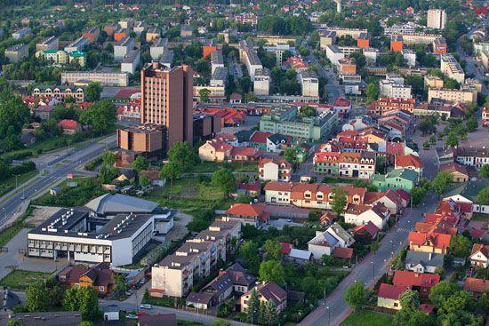 Tarnobrzeg - centrum. EU, Pl, Podkarpackie. LOTNICZE.