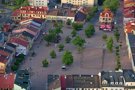 Tarnobrzeg - centrum starego miasta. EU, Pl, Podkarpackie. LOTNICZE.