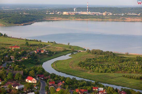 Jezioro Tarnobrzeskie. EU, Pl, Podkarpackie. LOTNICZE.
