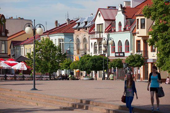 Tarnobrzeg - rynek starego miasta. EU, Pl, Swietokrzyskie.