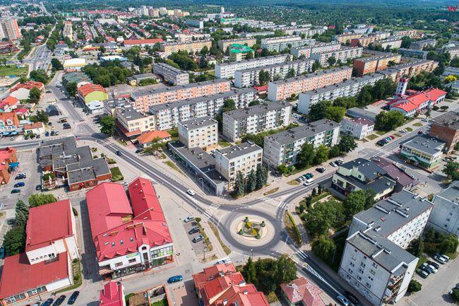 Tarnobrzeg, lotnicza panorama miasta