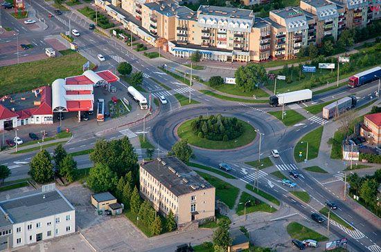 Lotnicze, Pl, Podlaskie. Skrzyzowanie w Augustowie.
