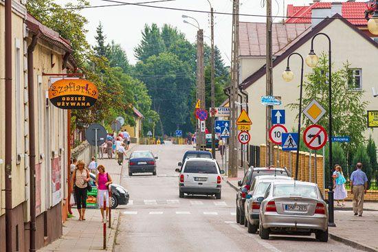 Augustow. Ulica Mostowa. EU, PL, Podlaskie.