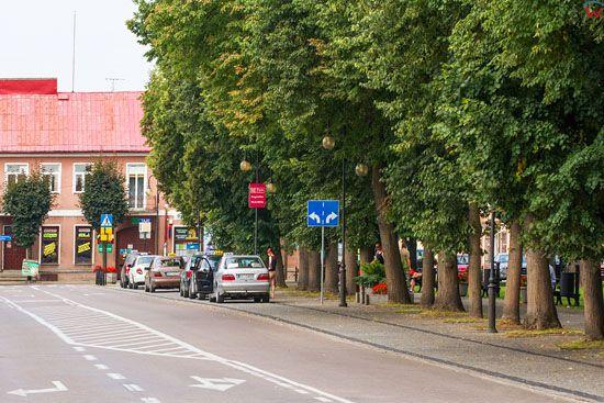 Augustow. Ulica Rynek Zygmunta Augusta. EU, PL, Podlaskie.