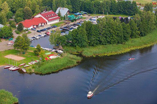 Augustow, rzeka Netta. EU, PL, Podlaskie. Lotnicze.