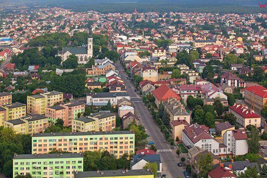 Augustow, ulica 3-go Maja. EU, PL, Podlaskie. Lotnicze.