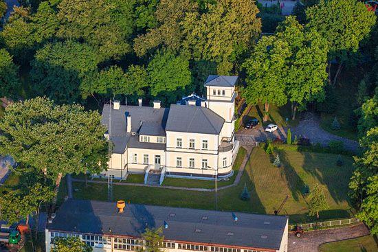 Augustow, Muzeum Kanalu Elblaskiego. EU, PL, Podlaskie. Lotnicze.