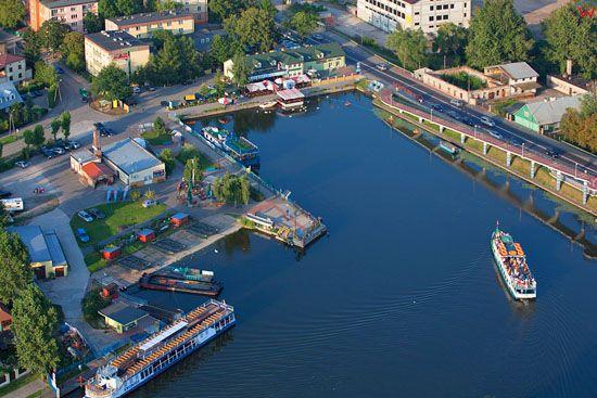Augustow, Port Zeglugi Augustowskiej. EU, PL, Podlaskie. Lotnicze.