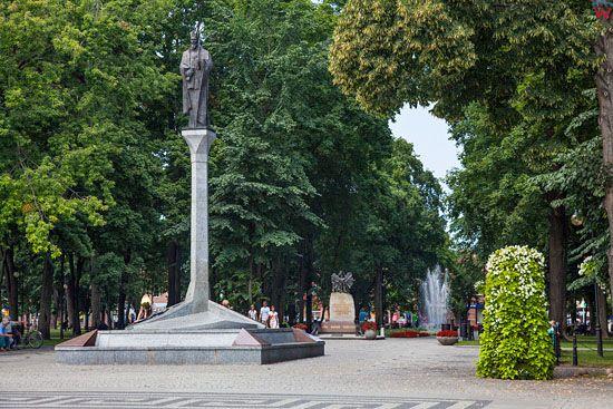 Augustow, Pomnik Zygmunata Augusta. EU, PL, Podlaskie.