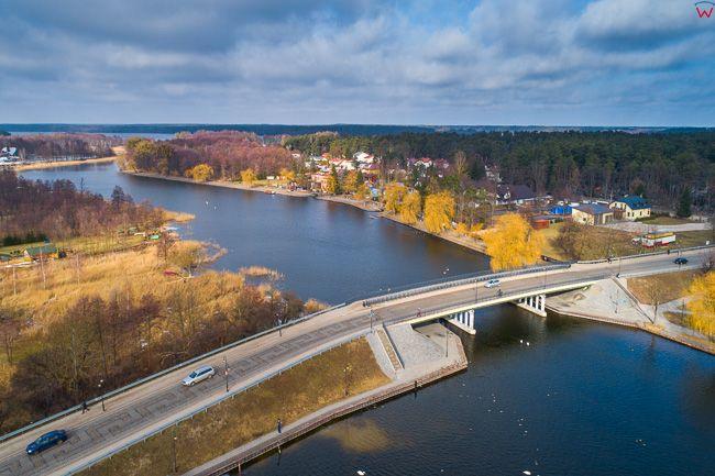 Augustow, most na rzece Netta. EU, Pl, Podlaskie. Lotnicze.