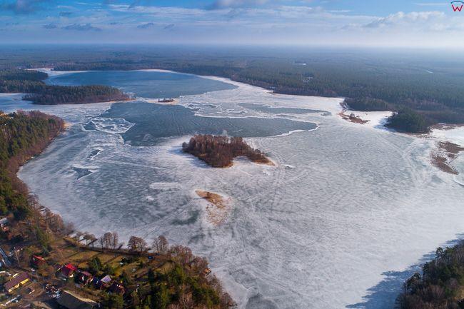 Studzieniczna, jezioro Studzieniczne. EU, Pl, Podlaskie. Lotnicze.