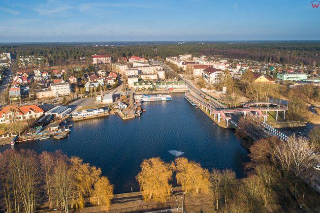 Augustow, port pasazerski. EU, Pl, Podlaskie. Lotnicze.