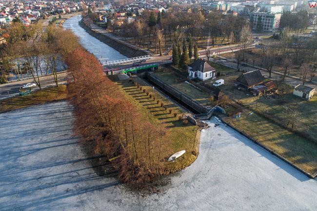 Augustow, Kanal Augustowski. EU, Pl, Podlaskie. Lotnicze.