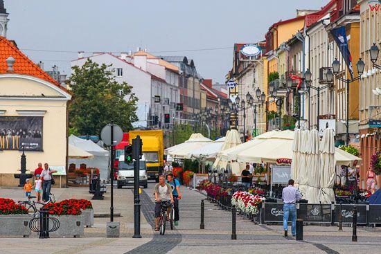 Bialystok, Panorama na ulice Lipowa z Rynku Kosciuszki, EU, Pl, Podlaskie.