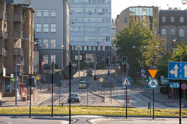 Bialystok, panorama na Plac dr Andrzeja Lussy. EU, PL, Podlaskie.