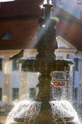 Bialystok, fontanna przed Ratuszem. EU, PL, Podlaskie.