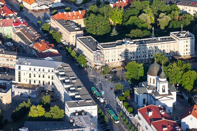 Bialystok, Cerkiew Katedralna przy ul. Lipowej. EU, PL, Podlaskie. Lotnicze.