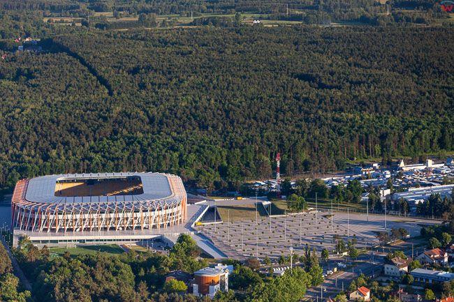 Bialystok, Stadion Miejski przy ul. Ciolkowskiego. EU, PL, Podlaskie. Lotnicze.