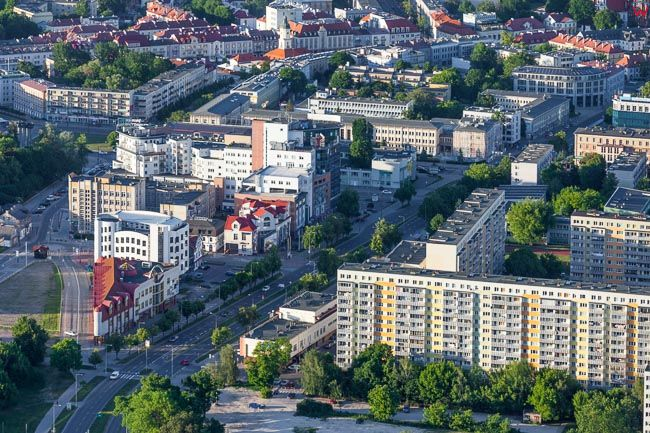 Bialystok, okolica ul. Mazowieckiej. EU, PL, Podlaskie. Lotnicze.