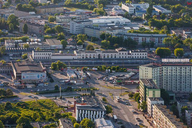 Bialystok, Dworzec PKP. EU, PL, Podlaskie. Lotnicze.