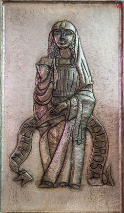 Chojnice, 29.06.2016 r, sceny z zycia swietych na oltarzu Bazyliki Mniejszej. EU, PL, Pomorskie.