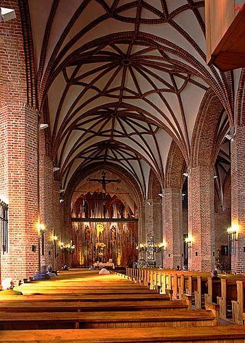 Gdańsk, wnętrze kościoła Brygidy